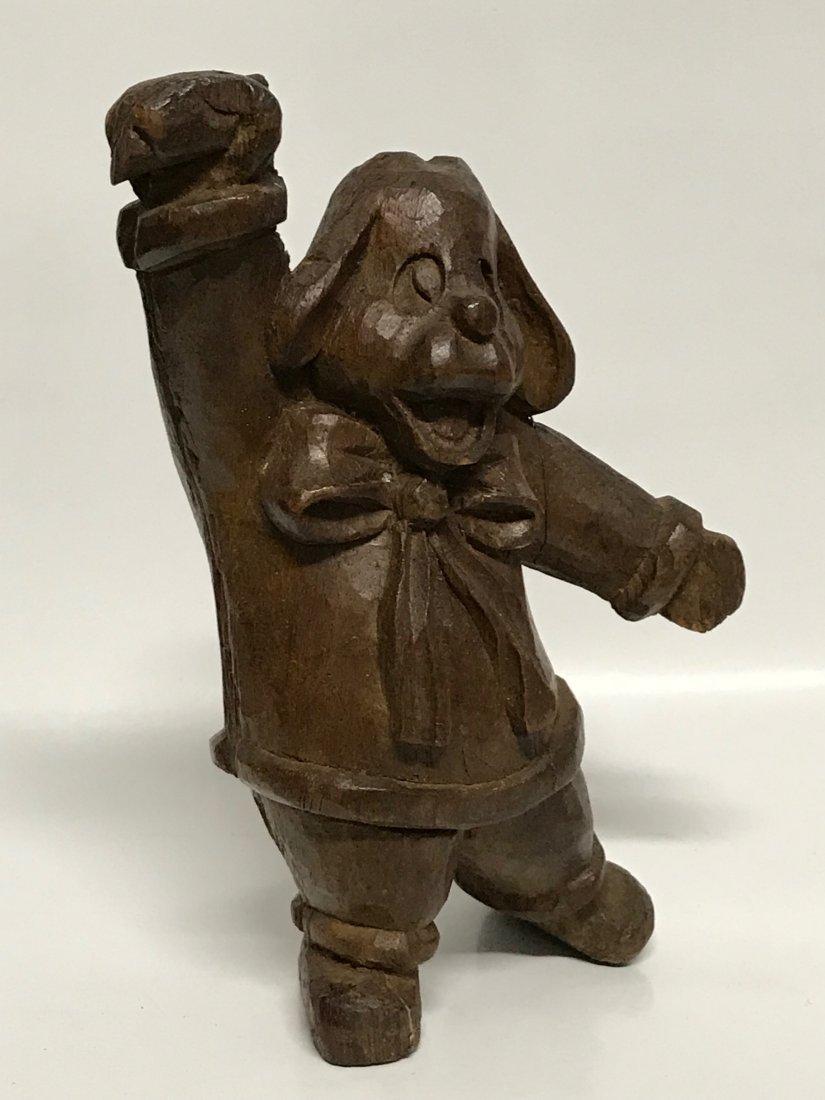 Carved Wood Dancing Dog - 2
