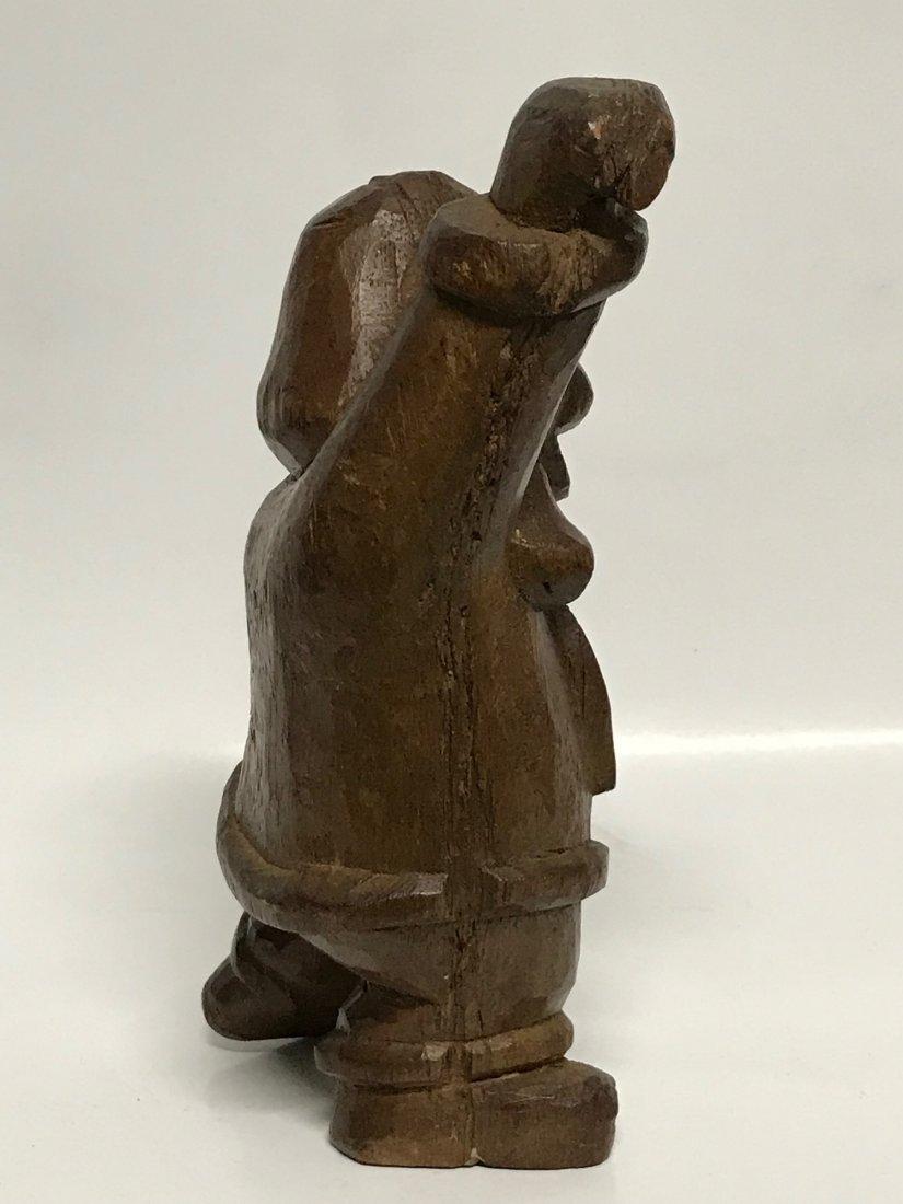 Carved Wood Dancing Dog - 3