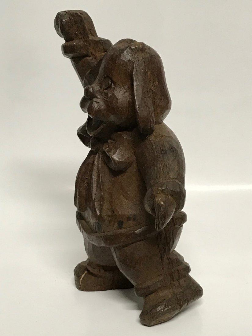 Carved Wood Dancing Dog - 5