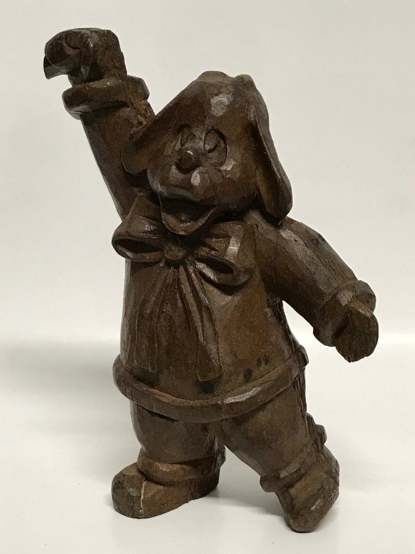 Carved Wood Dancing Dog - 6
