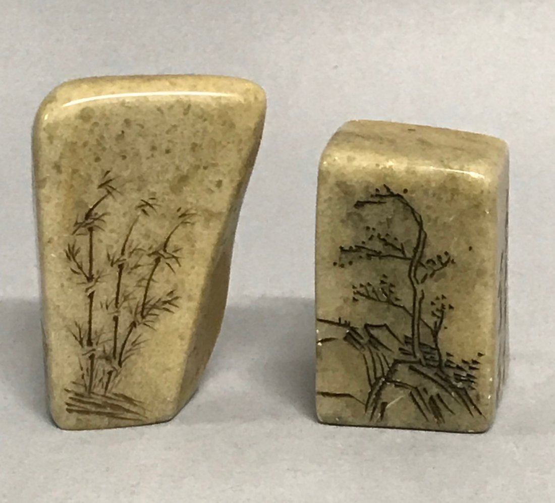 Pair of Soapstone Seal/Chop