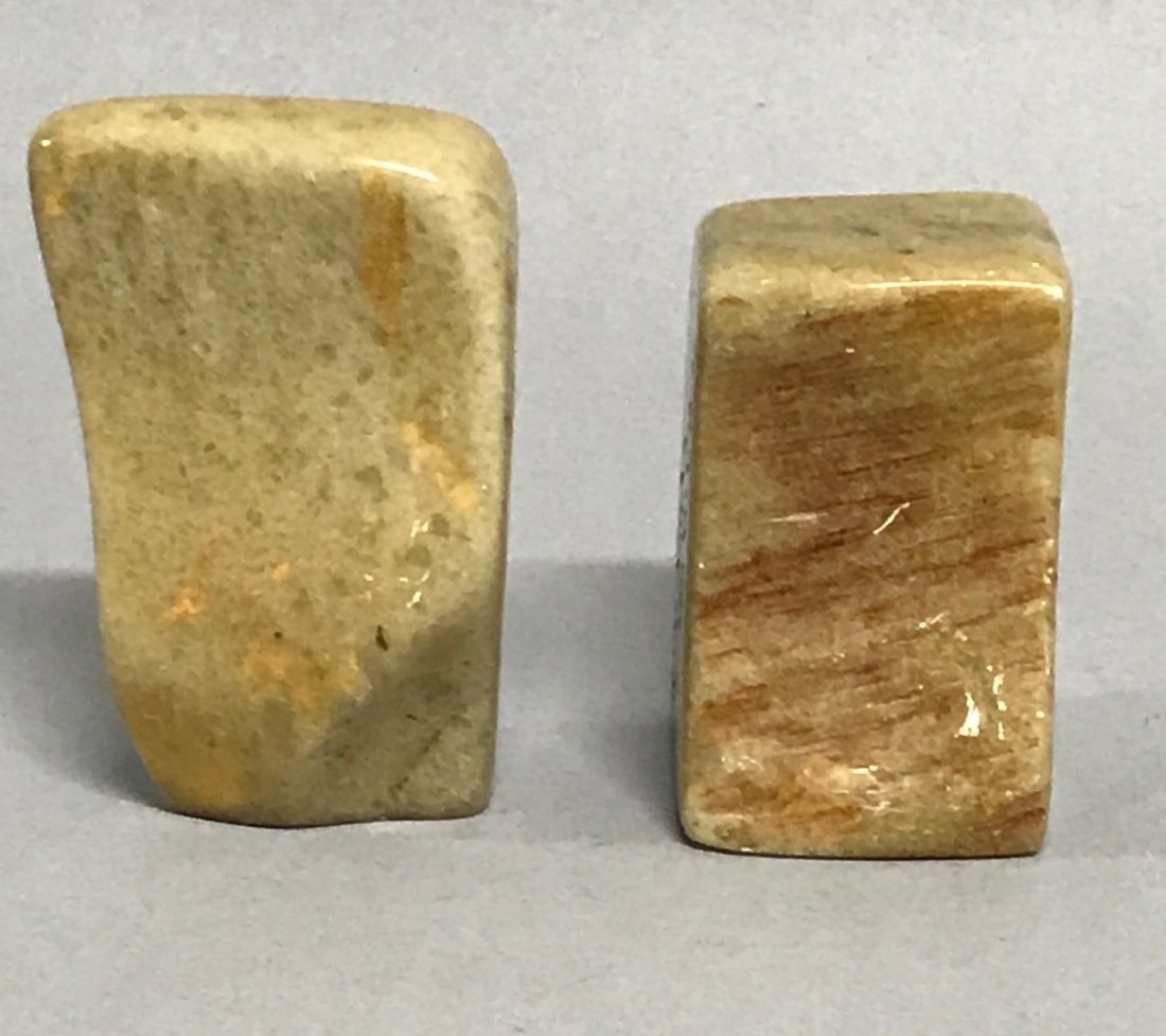 Pair of Soapstone Seal/Chop - 3
