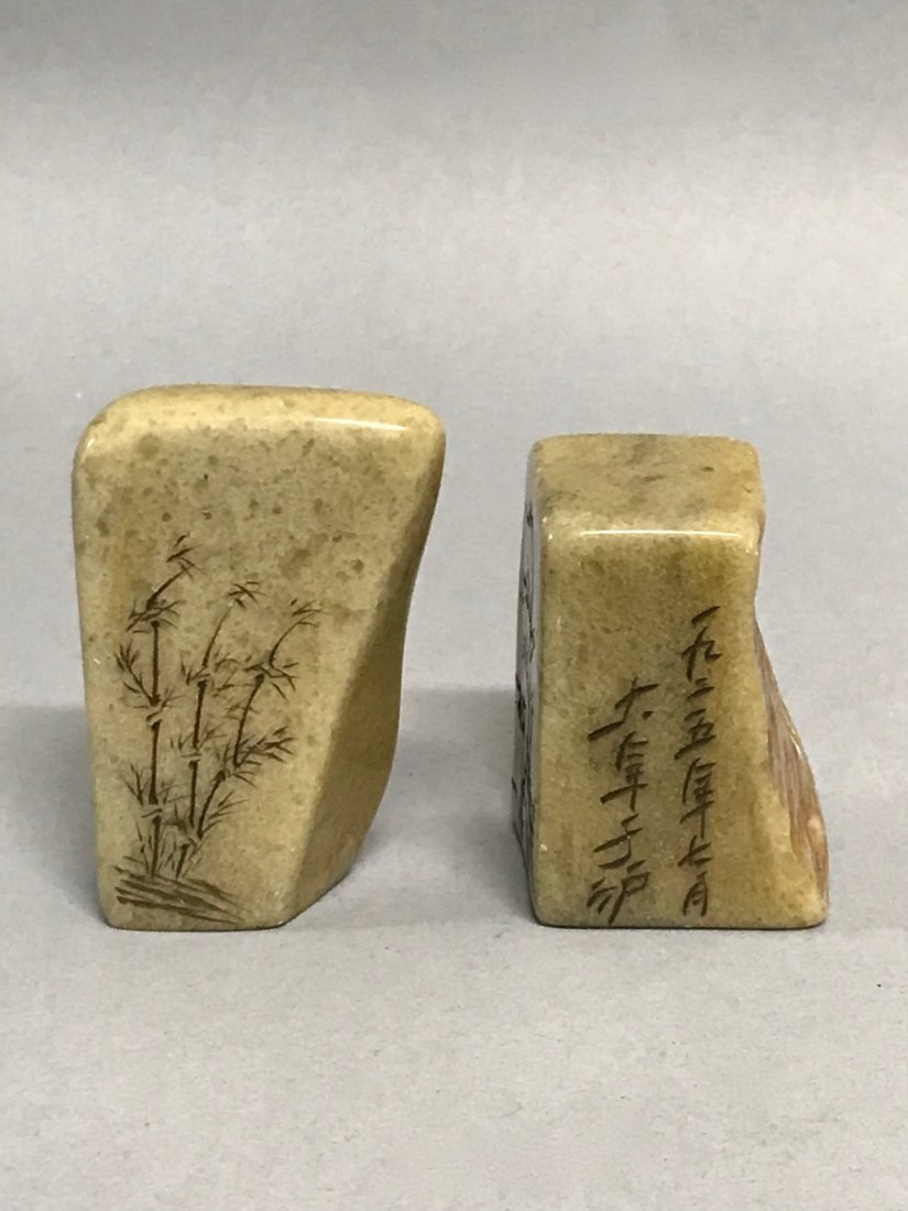 Pair of Soapstone Seal/Chop - 5