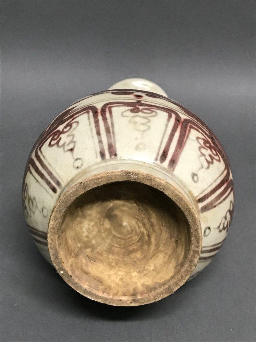 Chinese Copper Red Porcelain Vase - 6