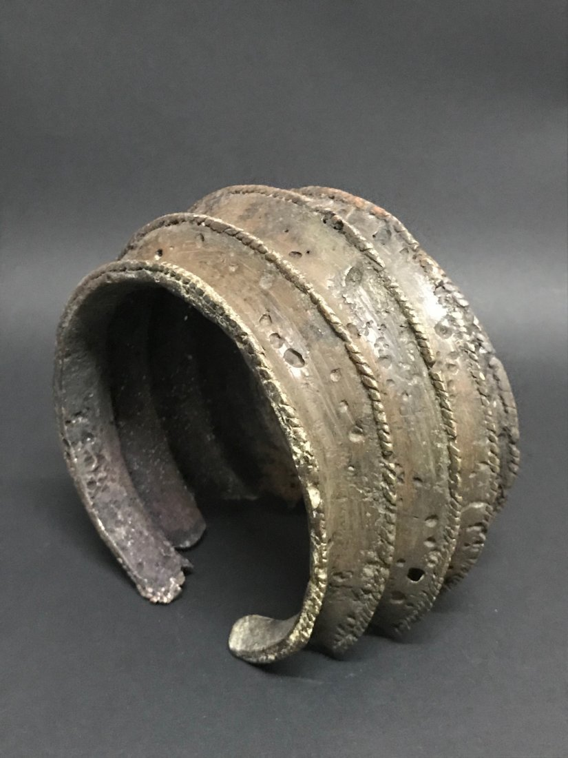 Nigerian Bronze Currency Bracelet - 6