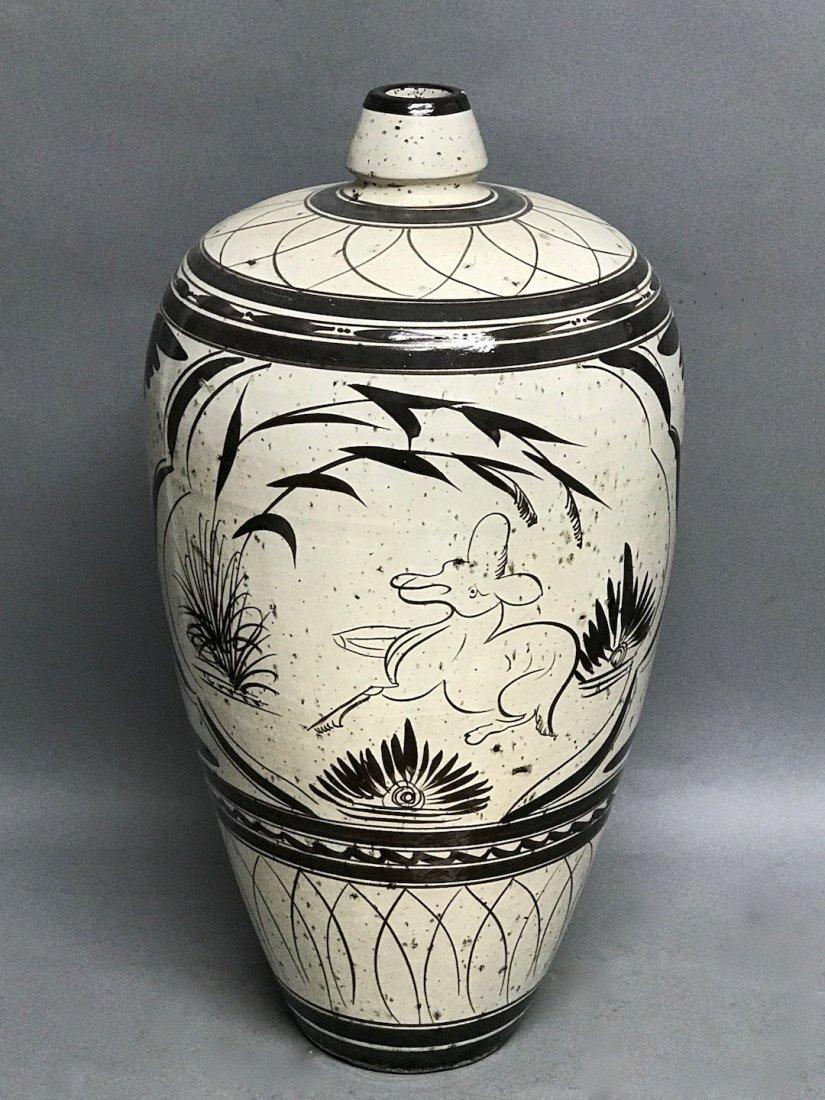 Black and White Ceramic Vase - 4