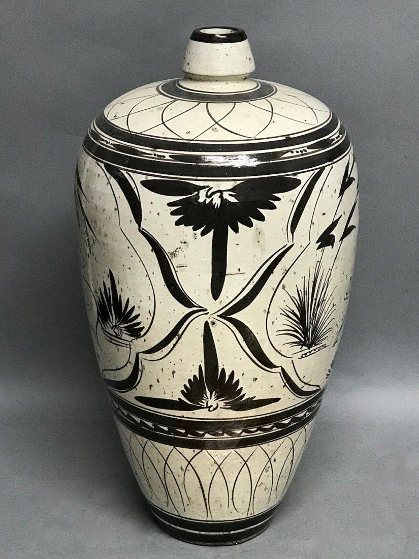 Black and White Ceramic Vase - 5
