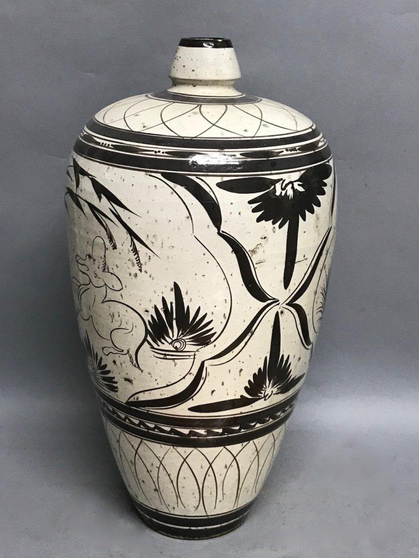 Black and White Ceramic Vase - 8