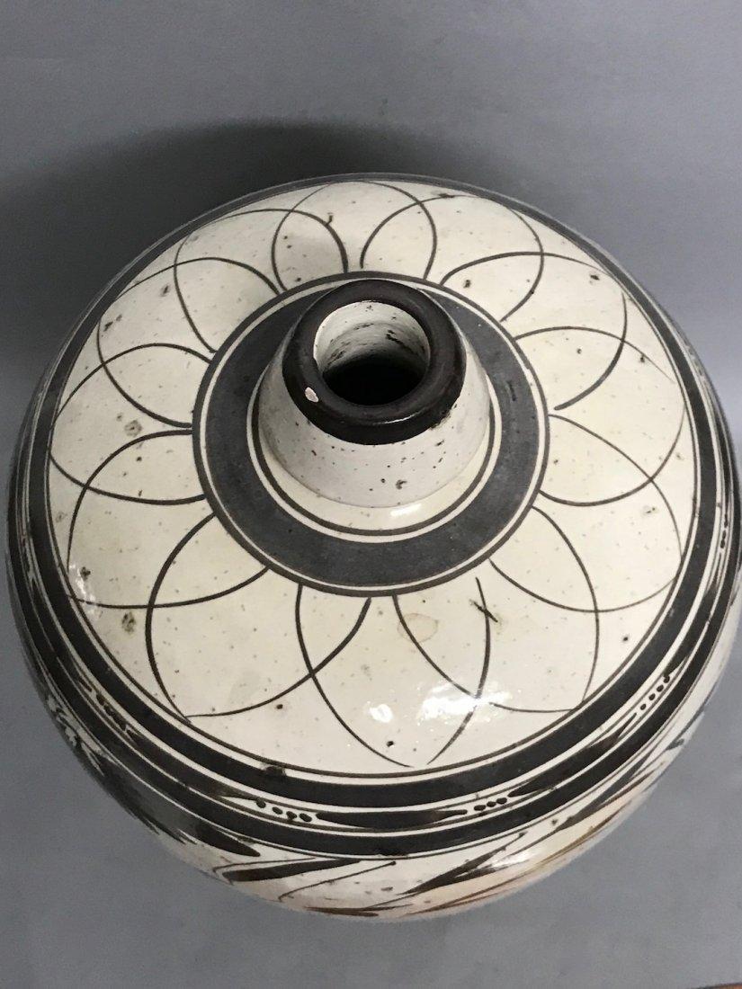 Black and White Ceramic Vase - 9