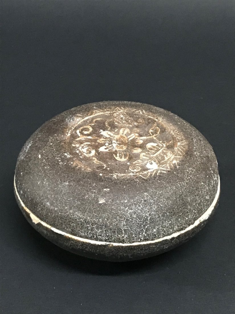Ceramics Brown Pill Box