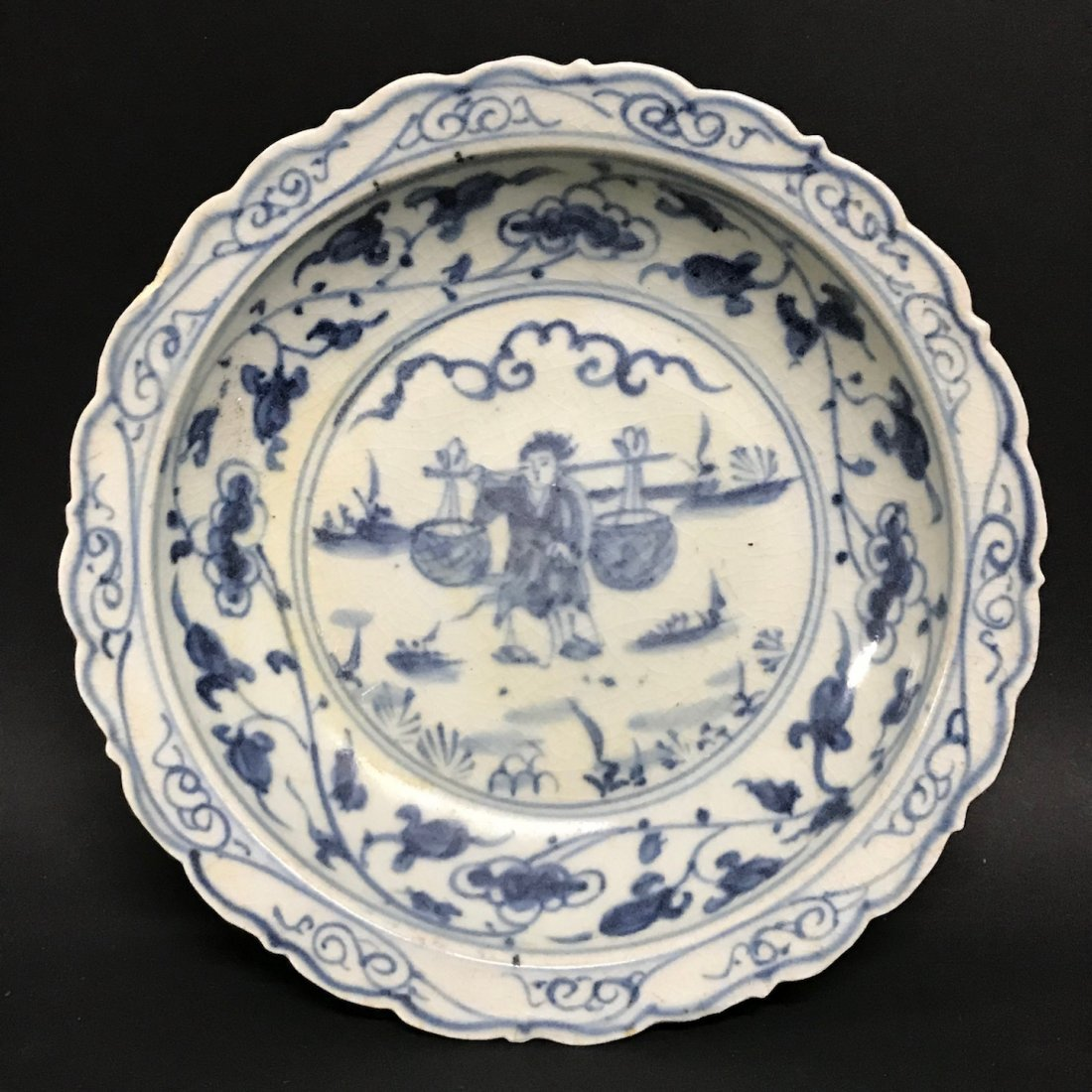 Porcelain Blue and White Plate