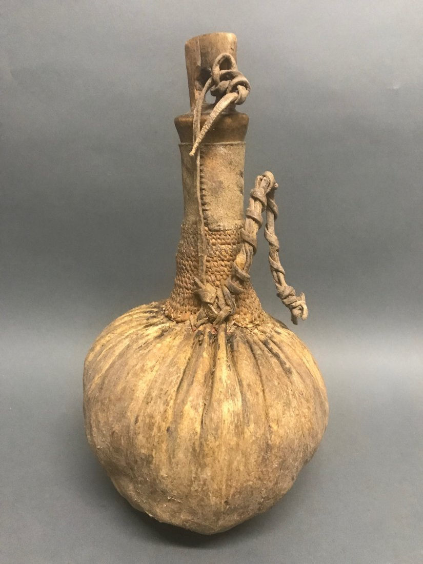 Samburu Honey/Milk Calabash Leather Watergourd