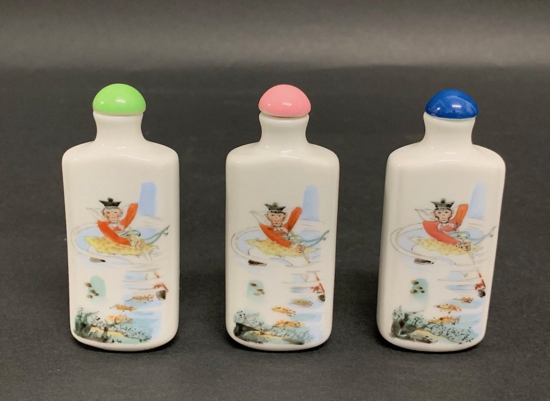 3 pieces Snuff Bottles
