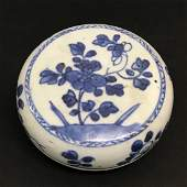 Blue and White Porcelain Lidded Box