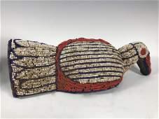 African Art Bamileke Beaded Bird
