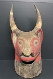 Bidjogo Bull Helmet Mask