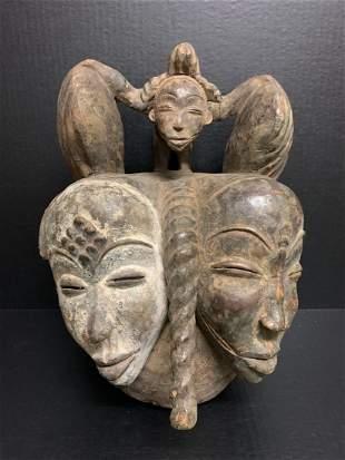 Double Head Punu Mask
