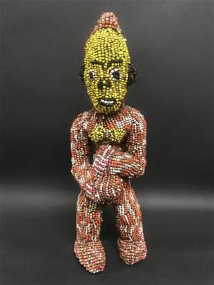 Bamileke Beaded Doll