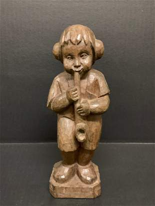 Boy Playing Flute Papermache Mold