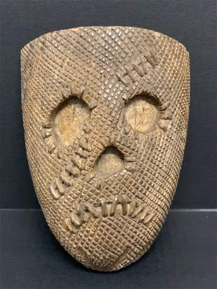 Scary Face Mask Papermache Mold