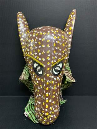 Bozo Painted Puppet Mask