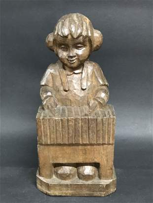 Boy Playing Piano Papermache Mold