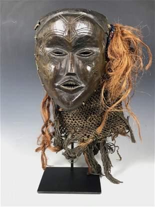 Chokwe Mask with metal stand