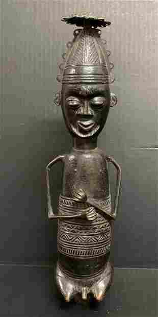 Benin Bronze Statue