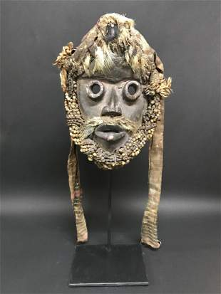 Dan Guere Mask with Stand