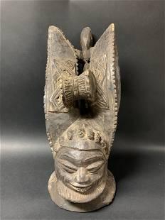 Yoruba Helmet Mask