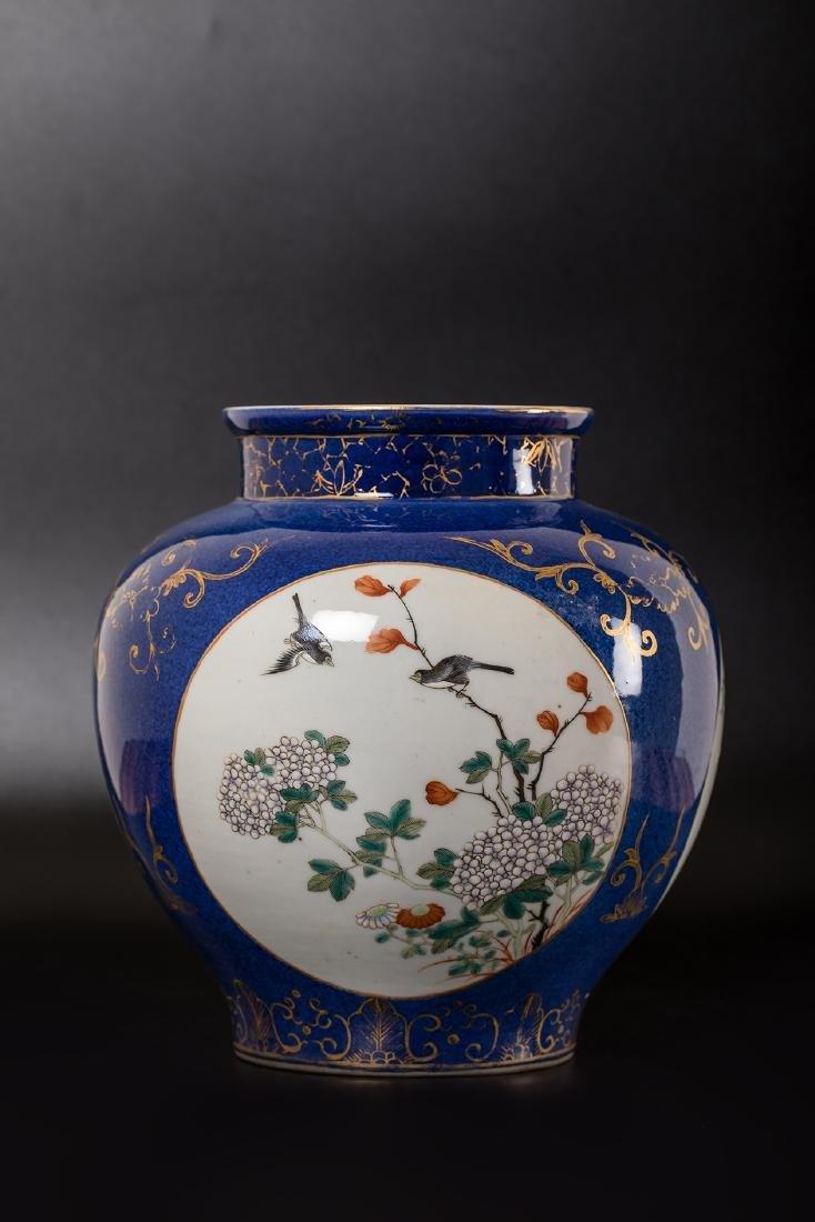 CHINESE FAMILLE ROSE PORCELAIN JAR. - 2