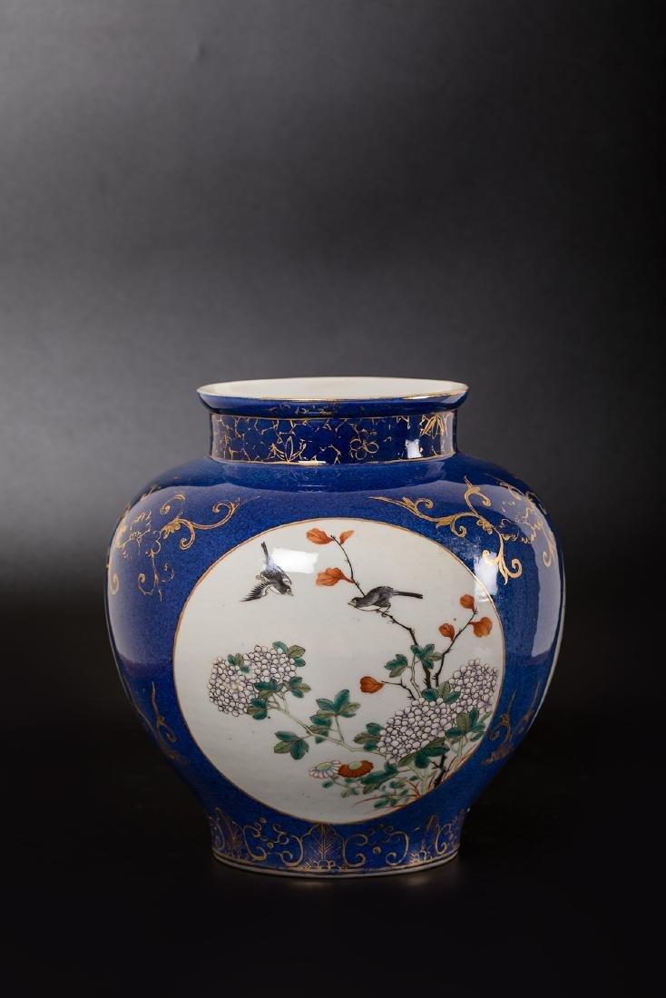 CHINESE FAMILLE ROSE PORCELAIN JAR. - 3
