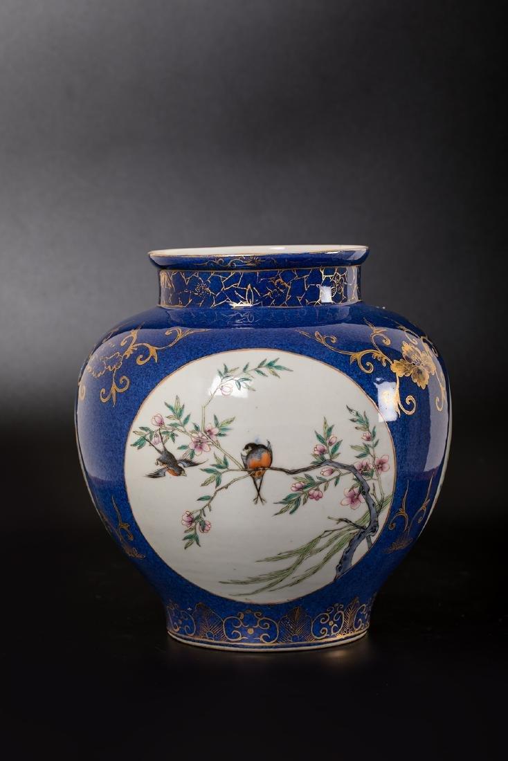 CHINESE FAMILLE ROSE PORCELAIN JAR. - 4