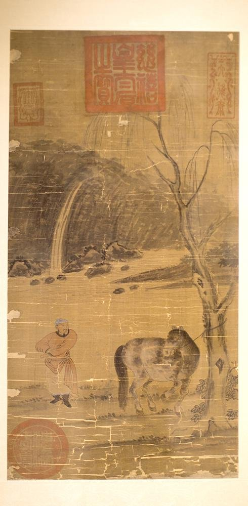 FRAMED CHINESE SILK PAINTING
