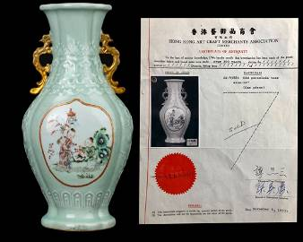 DOUBLE SIDE CHILDREN PAINTINGS VASE WITH QING QIANLONG