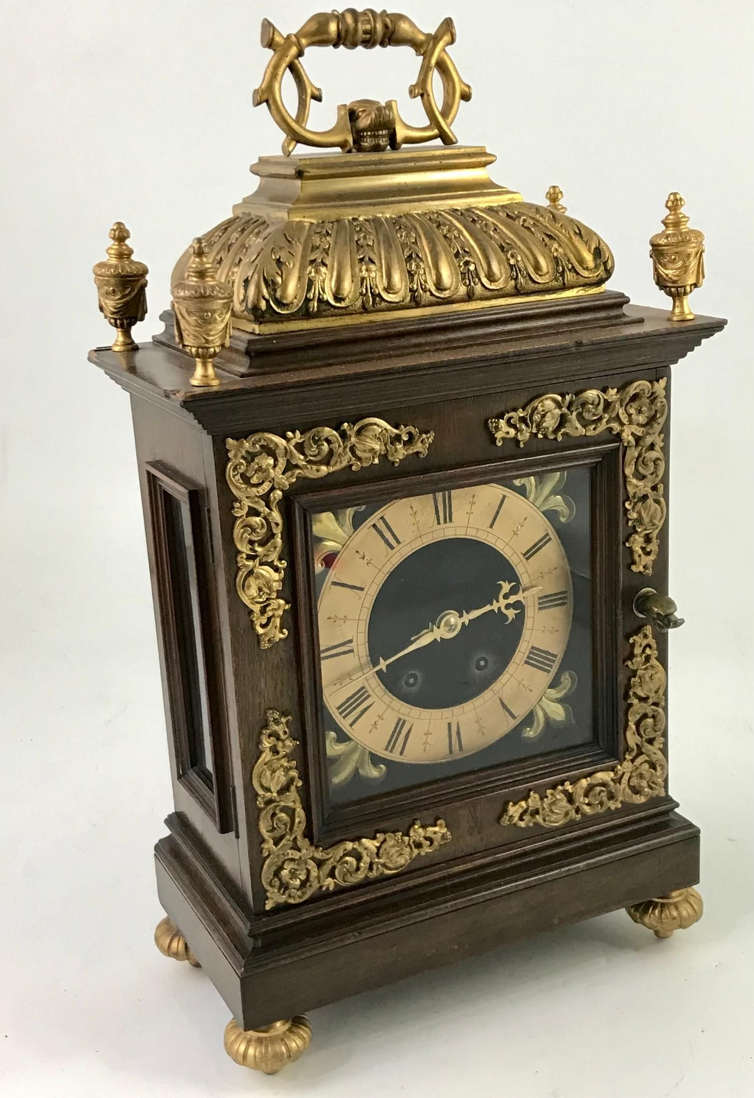 BRACKET CLOCK LABELLED 'BY LONDON MAKER MILLER AND SONS