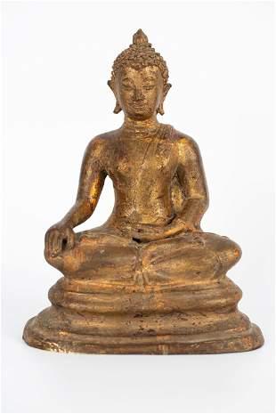 20TH CENTURY BRONZE BUDDHA STATUE