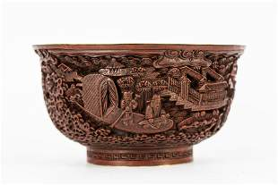 19TH CENTURY 'DA QING QIAN LONG YEAR' CARVED LACQUER