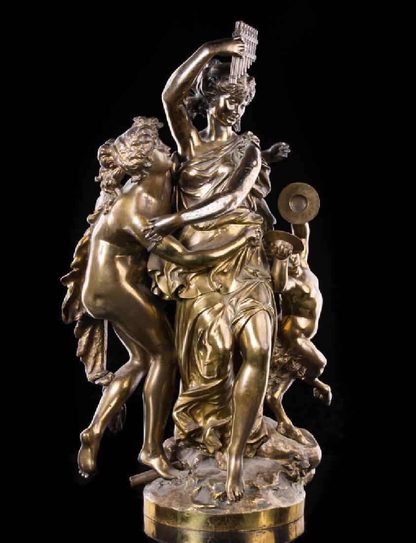 JULES GRAUX (19TH.C) FRENCH BRONZE SCULPTURE