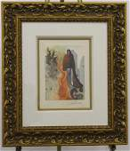 SALVADOR DALI DIVINE COMEDY INFERNO 34 SIGNED