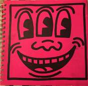 KEITH HARING TONY SHAFRAZI GALLERY DRAWING IN BOOK