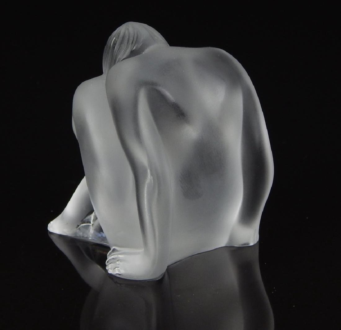 "LALIQUE FRENCH ""NABHI"" MEDITATING SCULPTURE - 2"