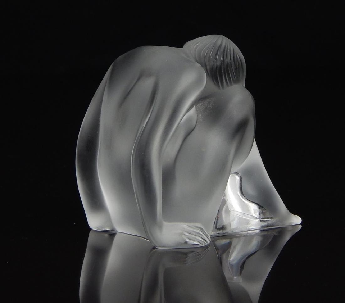 "LALIQUE FRENCH ""NABHI"" MEDITATING SCULPTURE - 4"