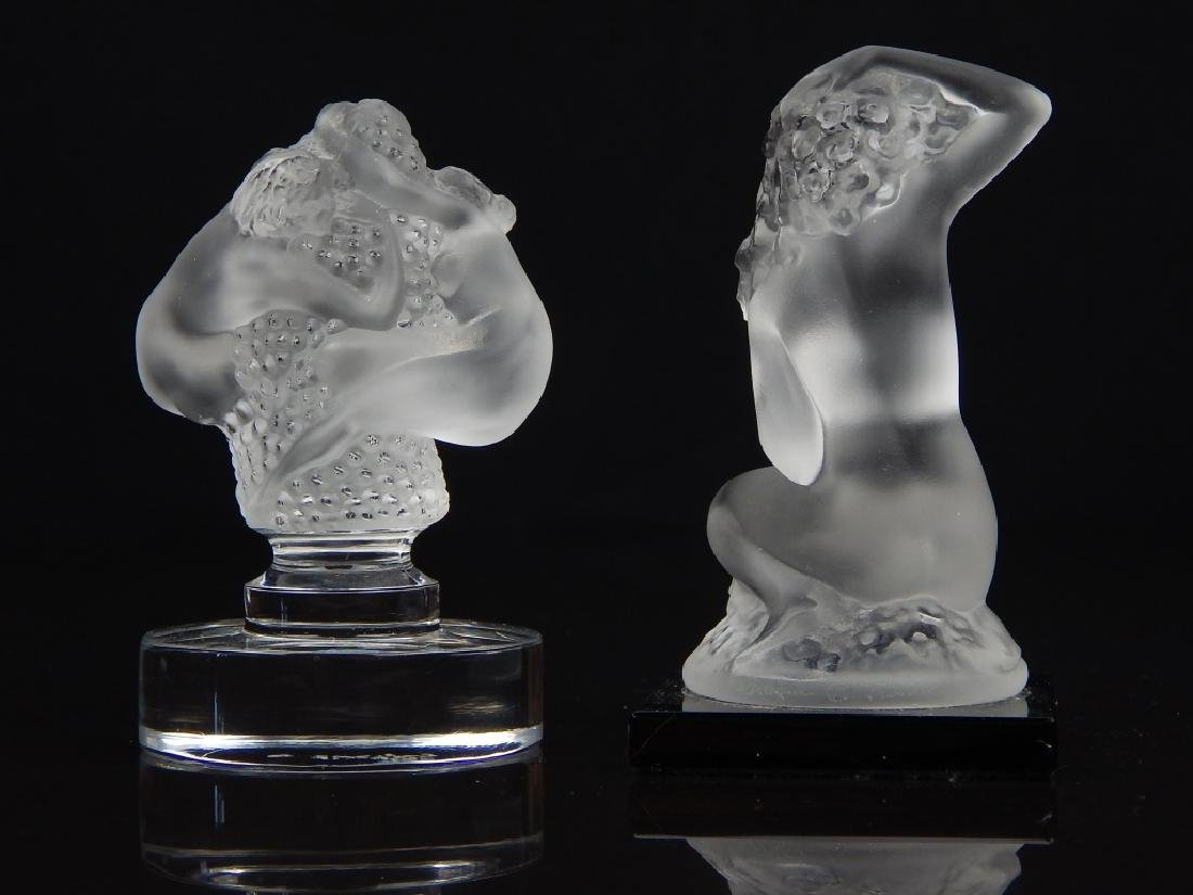 (2) LALIQUE FRANCE NUDE CRYSTAL PAPERWEIGHTS - 5