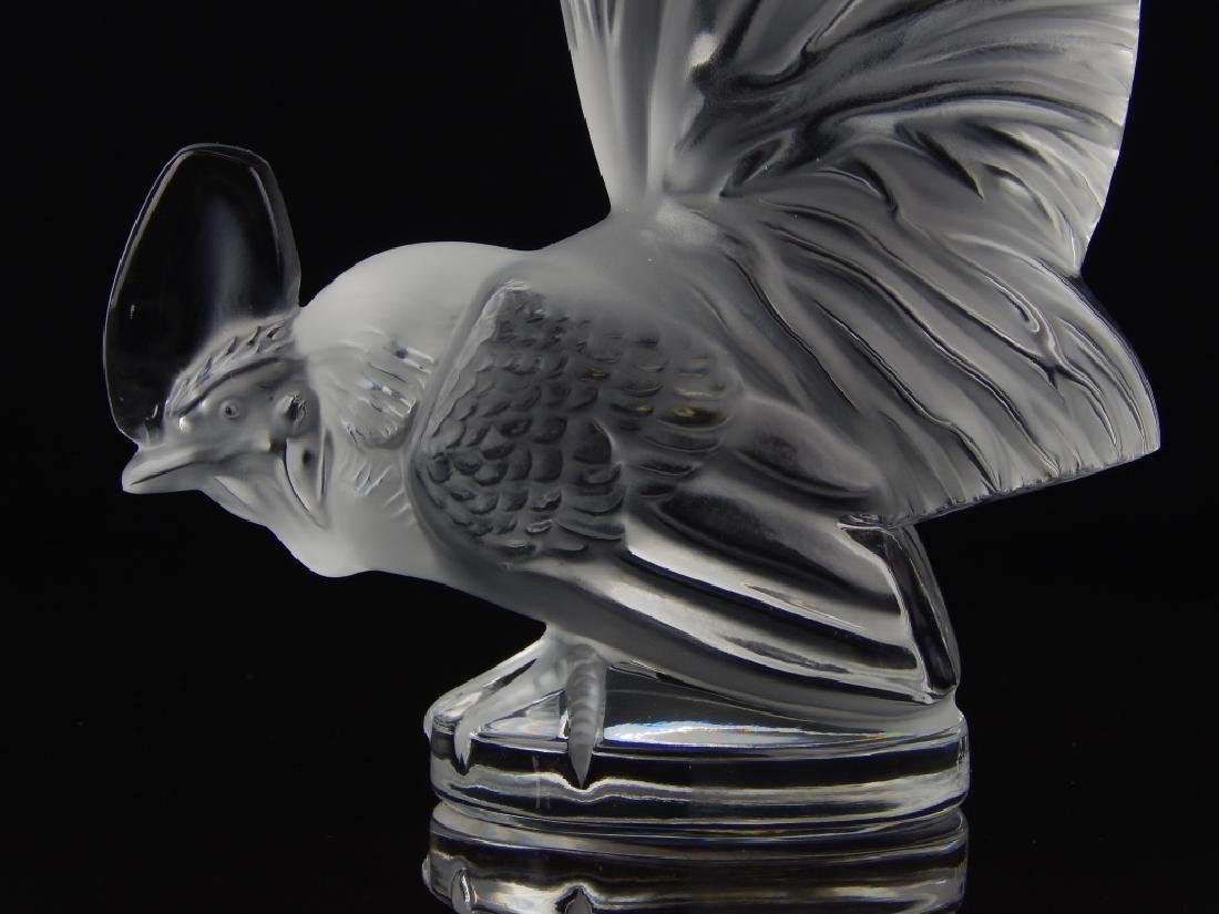 LALIQUE FRANCE CRYSTAL ROOSTER - 4