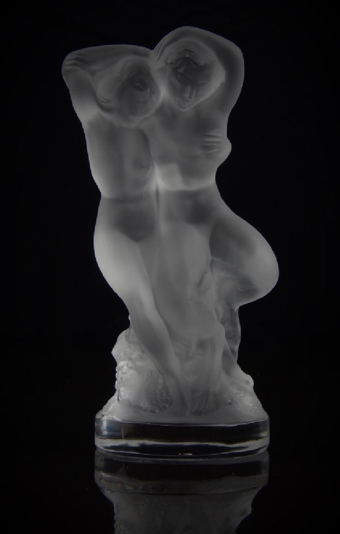 LALIQUE FRANCE NUDE FEMALE SCULPTURE