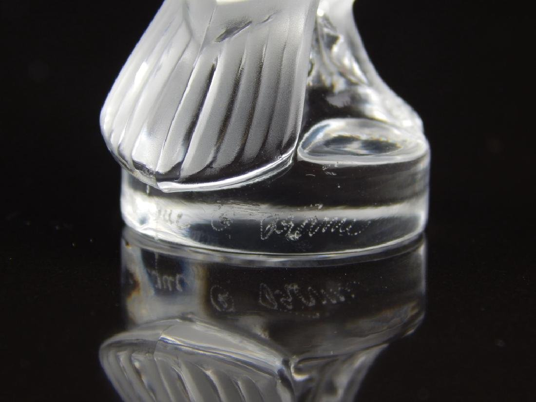 (2) LALIQUE FRANCE SMALL FIGURAL PAPERWEIGHT - 2