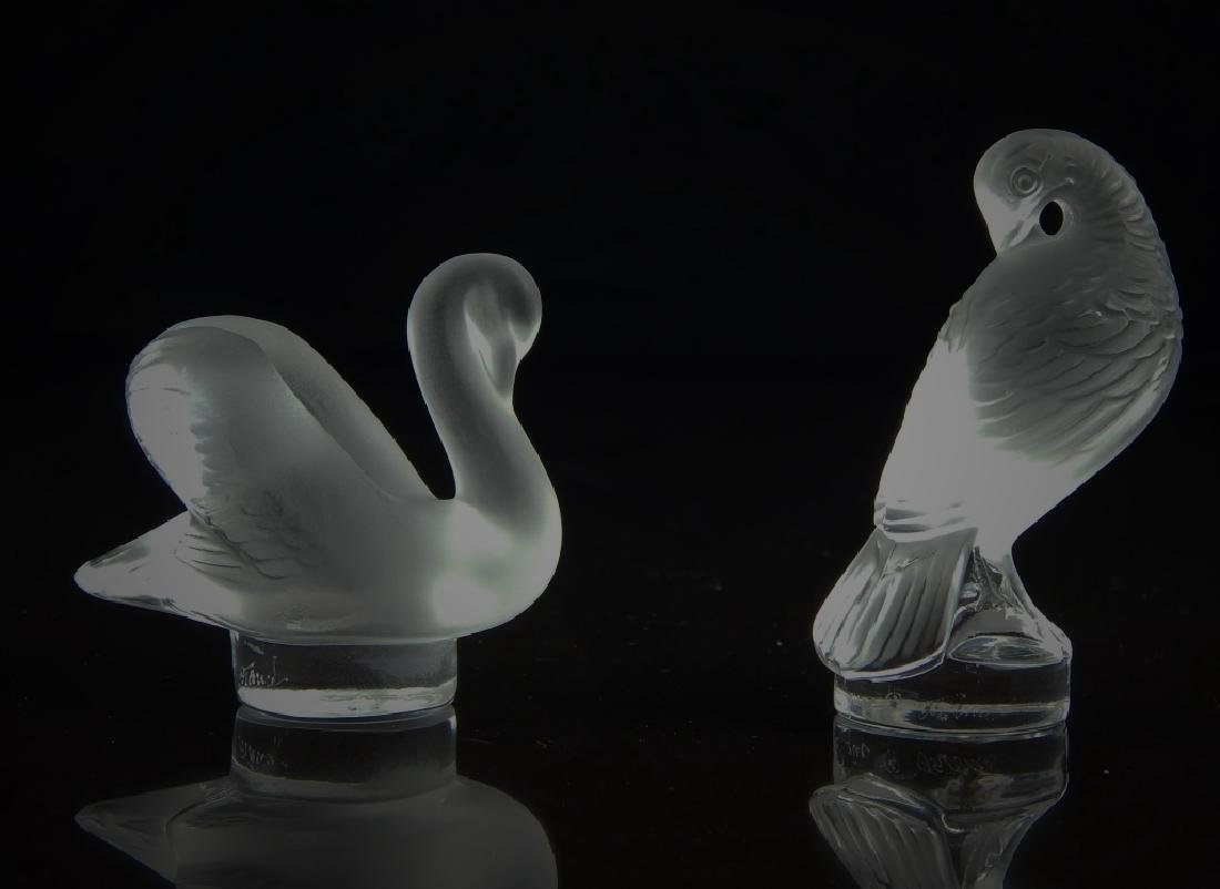 (2) LALIQUE FRANCE SMALL FIGURAL PAPERWEIGHT - 3