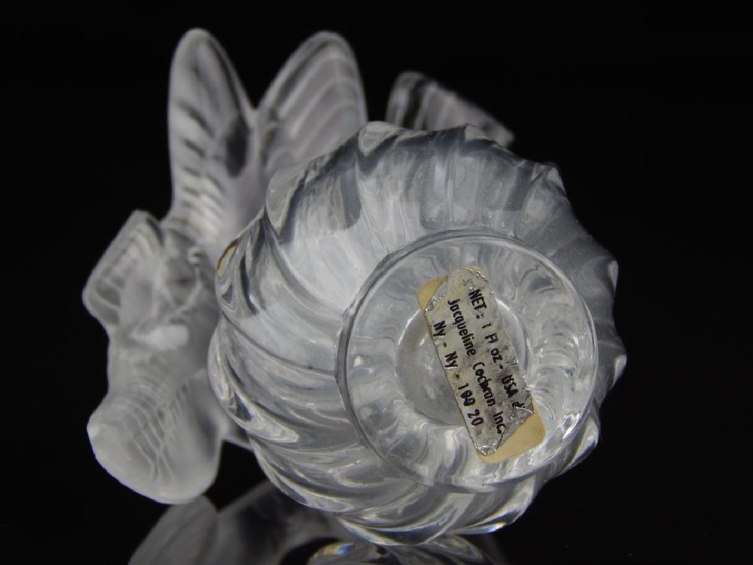 LALIQUE FRANCE CRYSTAL PERFUME BOTTLE - 2