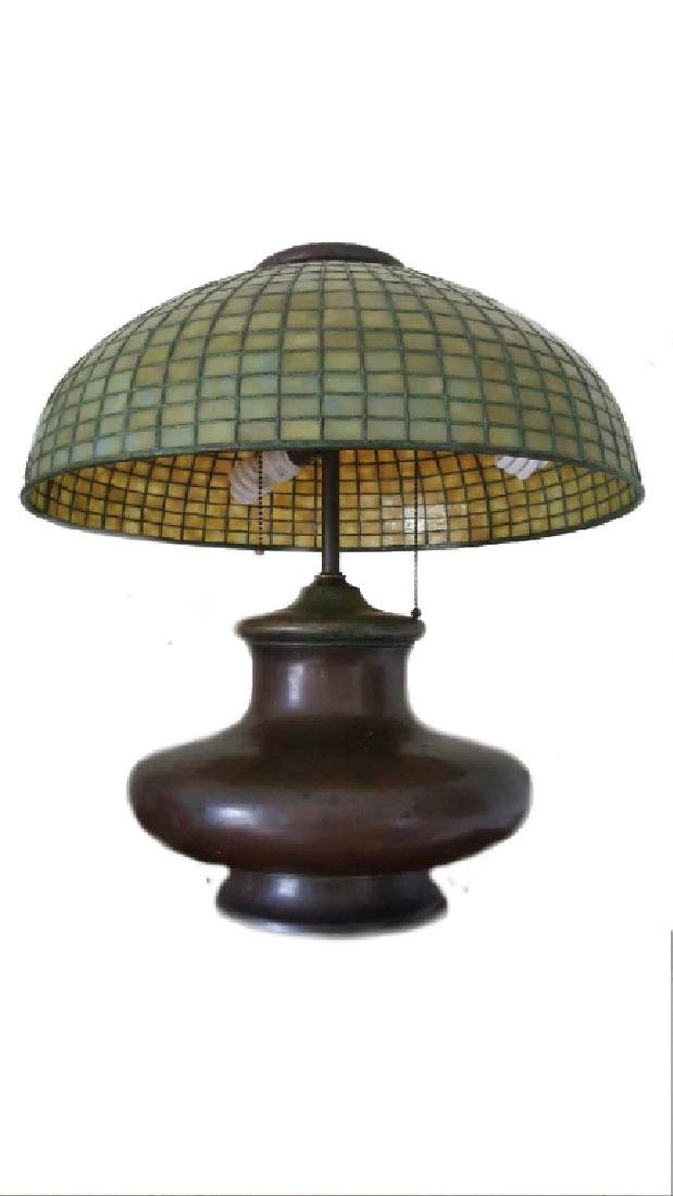 TIFFANY STUDIOS NYC LAMP SHADE WITH BASE